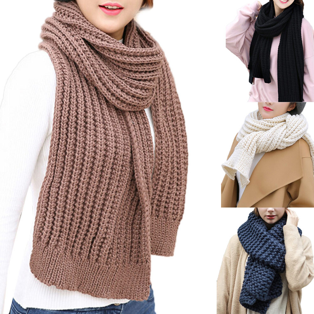 Fashion Women Warm Knit Neck Circle Cowl Snood Multi-purpose Scarf Acrylic fibres female neckerchief head towel shawl