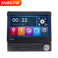 Автомобильный dvd плеер 1 din радио мультимедиа универсальное автоматическое радио GPS навигация Bluetooth стерео USB поддержка DVR камера ТВ коробка