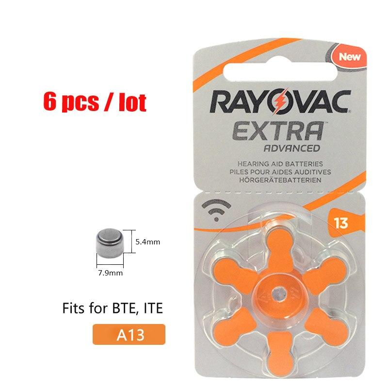 6 Pcs Rayovac Extra A13 Zink Air Batterien Hörgerät Batteres Pr70 13 A13 13a Hörgerät Batterie Gut FüR Energie Und Die Milz