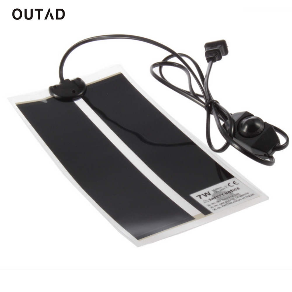 OUTAD 1pc Extra Thin Heat Mat 15x28cm 7W Reptile Brooder Incubator Pet Heating Pad Brew EU Plug For Dog Cat Bed