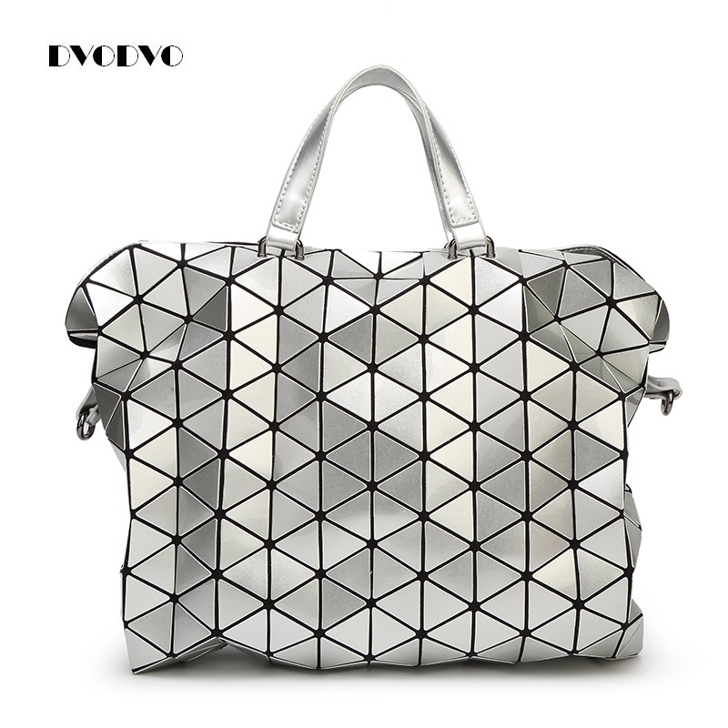 DVODVO bao bao women pearl bag laser sac bags Diamond Lattice Tote geometry Quilted shoulder bag Bolsa Female Foldable handbags 2018 fashion bao bag women luminous sac bao bags tote geometry quilted shoulder bags saser plain folding handbags bolasa