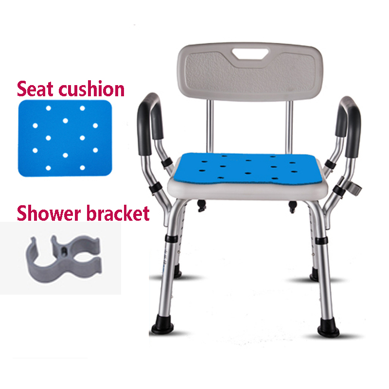 D,Bathroom Chair Height Adjustable Shower Seat with Back for Handicap, Disabled, Seniors ,elderly Medical Bath Seat Handles