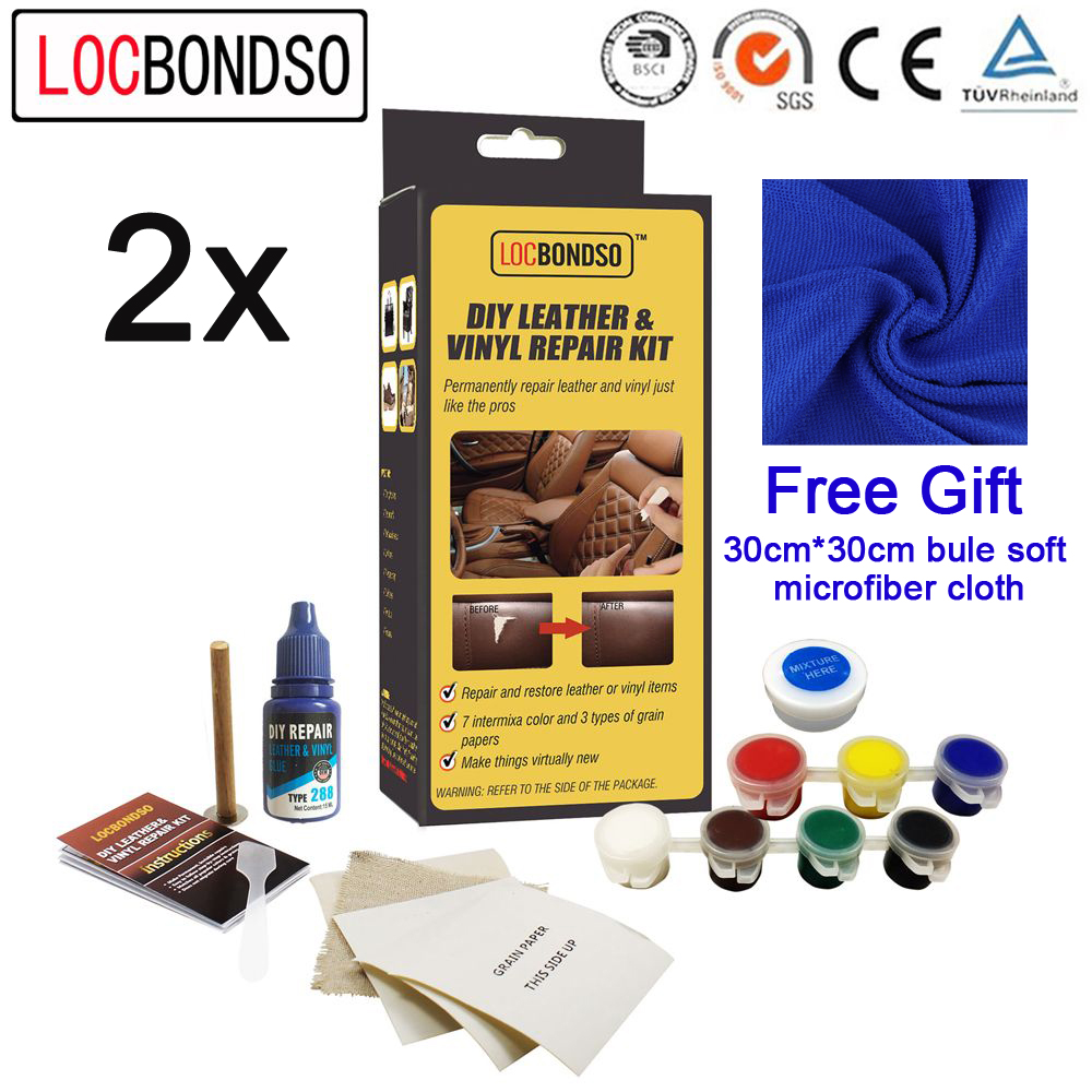 Leather Furniture Repair Kits Reviews: LocBondso Leather Vinyl Repair Kit Auto Car Seat Sofa