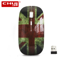 CHYI Cheap USB Wireless Optical Mouse British Flag Style Ultra-thin Mause Gaming Mouse sem fio Computer Mice for PC Laptop Gift(China)