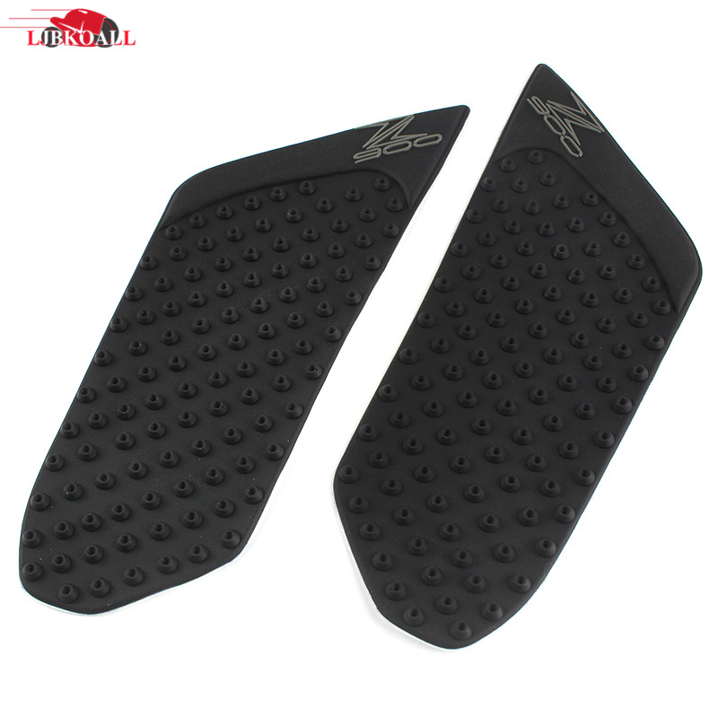 Decals & Stickers Motorbike Accessories Ljbkoall 2 Pcs Motorcycle Black Rubber Traction Pad Gas Tank Grip Knee For Kawasaki Z900 2015 2016 2017 Free Shipping We Have Won Praise From Customers