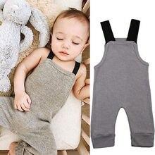 От 0 до 24 месяцев, новые осенние вязаные комбинезоны унисекс для новорожденных комбинезоны для мальчиков и девочек, Серый цветной нагрудник, штаны-шаровары детская одежда