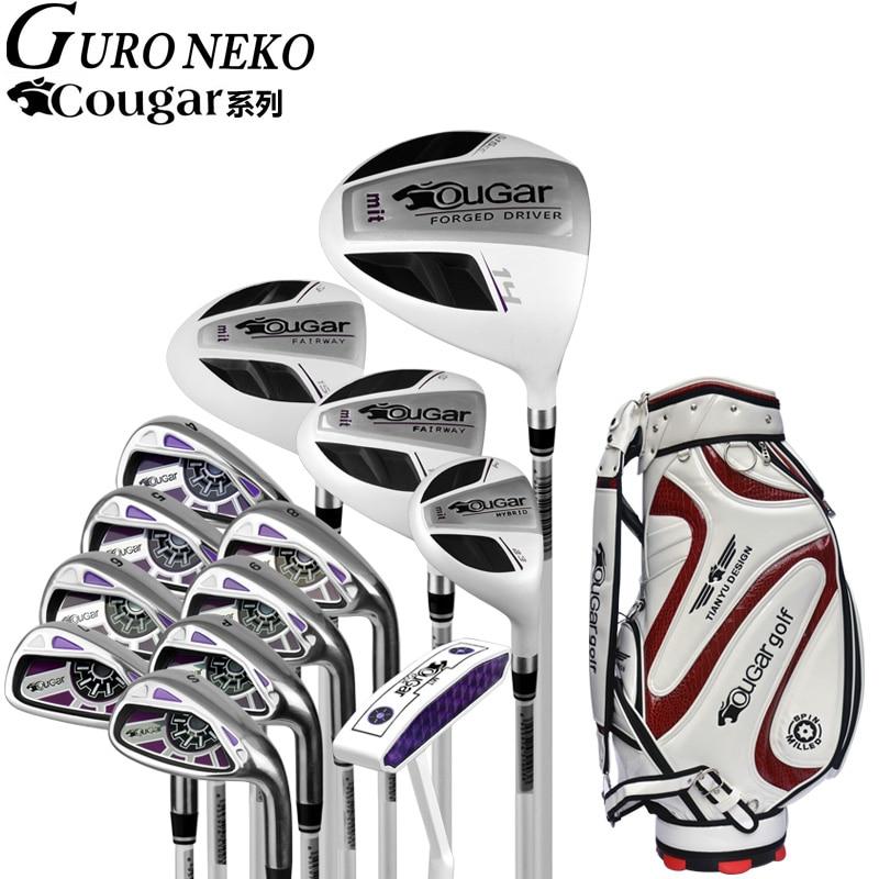 Golf brand Cougar. Ladies women golf irons clubs complete golf sets Women golf clubs full set half mini golf set  home appliance