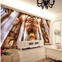 Latest custom 3D large mural,Magnificent luxury european-style angel church ,living room tv background bedroom wall wallpaper