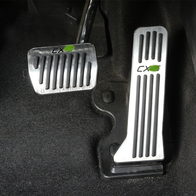 Aluminum alloy Car Accelerator Gas Pedals Brake Pedal Cover AT For Mazda CX-5 CX5 CX 5 2012 2013 2014 2015 2016 2017 Car-Styling for mazda cx 5 cx5 2017 2018 2nd gen lhd auto at gear panel stainless steel decoration car covers car stickers car styling