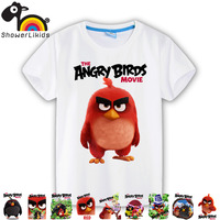 Cotton Short Sleeve Kids T Shirts Cute Cartoon Boy Girl Big Boy Wear Little Birds Collection
