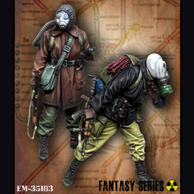 Traqueur 1/35. Metro, pour 2 personnes, kit de modèle soldat GK en résine, pour thème de guerre, kit non assemblé et peint