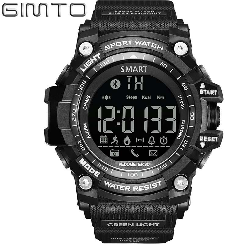 Män Smart Klockor GIMTO Digital Kompatibel Smart Wear Device för - Herrklockor