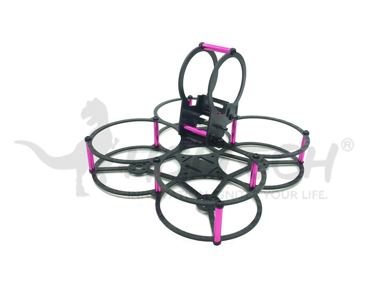 75mm Butterfly Brushless Micro Carbon Fiber FPV Racing Quadcopter Frame kit Drone 2.0mm Arm 2030 Props Tiny  Blade Inductrix 16pcs 8 pairs 10 blade propeller 1045 brushless motor for qav250 dron drones drone frame parts kit fpv quadcopter frame