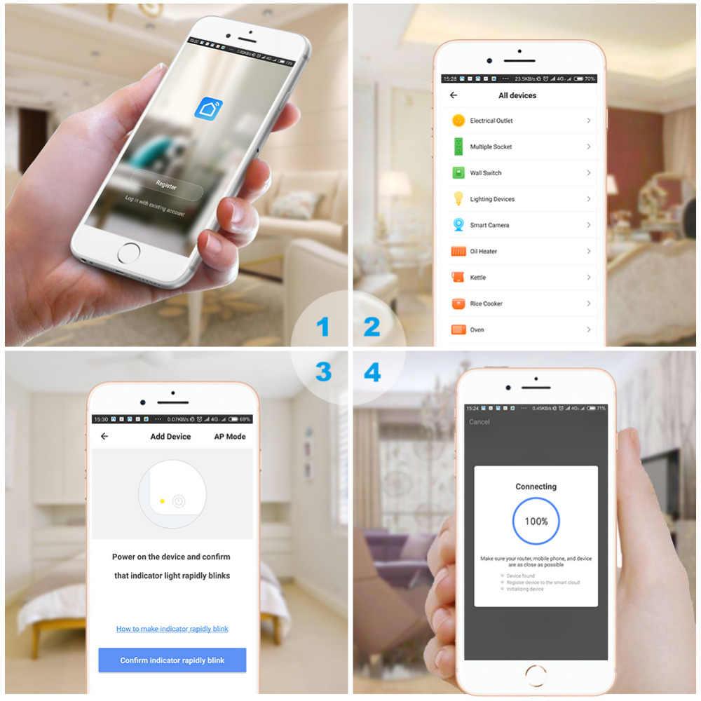 Inteligentna wtyczka 10A automatyki inteligentnego domu Wifi gniazdo pilot zdalnego sterowania przełącznik zasilania pracy z Amazon Alexa i Google HomeKit