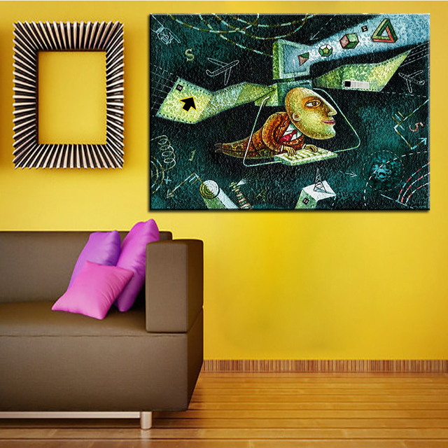 Large size Printing Oil Painting technology Wall painting Home ...