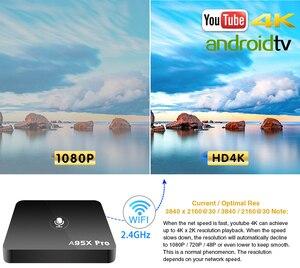 Image 3 - Caixa de tv android google play smart tv box a95x pro 2g 16g android 7.1 controle de voz 2.4g wifi pk h96max x96 4k hd 3d caixa de android