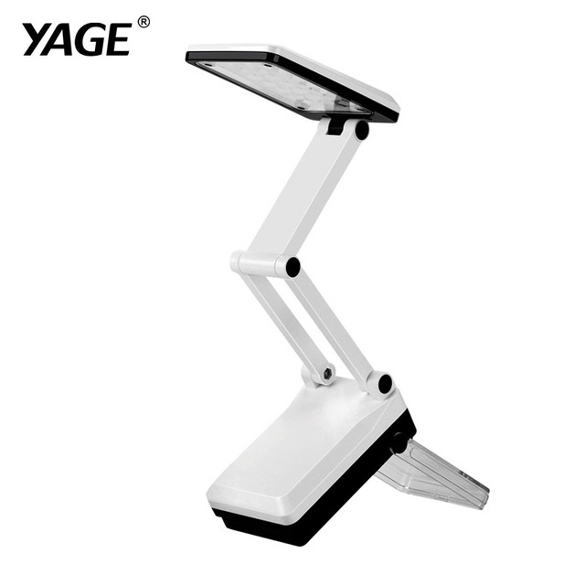 YAGE 5908 LED Desk Lamp Dimmable Touch Book Light Reading Light Chargeable Table Lamp Portable Folding Lamp