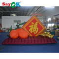 2018 Vivid Design Inflatable Orange Inflatable Gold Ingot for Chinese New Year Decoration