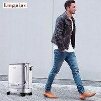 Интеллектуальная автоматическая багажная сумка, кабельный Электрический Дорожный чемодан, авто-следующий чехол, Дистанционно управляемая...