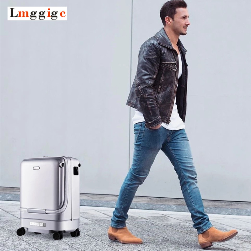 Intelligent Automatic Follow Luggage Bag,Cabin Electric Travel Suitcase,Auto-following Case,Remotely Controllable PC Box