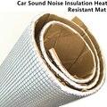 100CM*100CM Aluminum Foil Heat Insulation Car Stereo Audio Sound Deadener Mat Noise Deadening Speaker Sound Vibration Dampening
