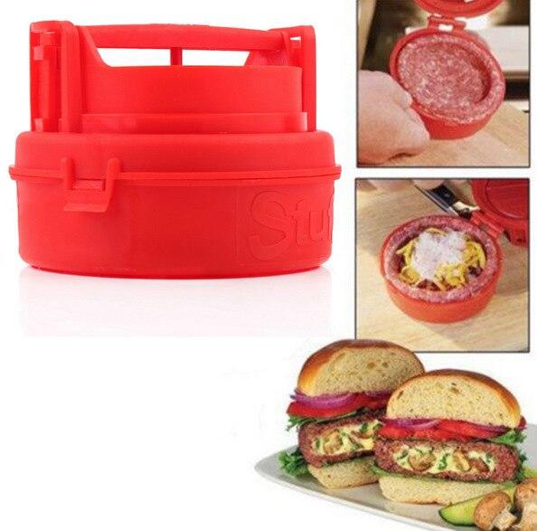 Hot Plastic Stuffed Burger Press Hamburger & Patties Maker Hamburger Meat Press Cookware Kitchen Dining Bar Tool As Seen On TV
