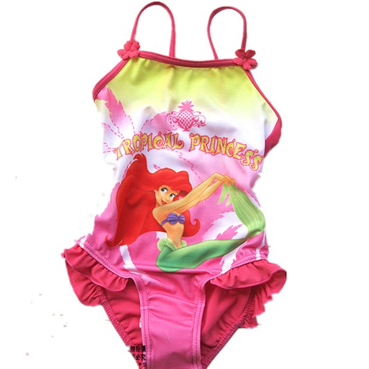 Retail Girls Mermaid One-Piece swimsuit for children beach wear bathing suit summe bath B Clothing UPF 50+ for 1-6 Year RT98