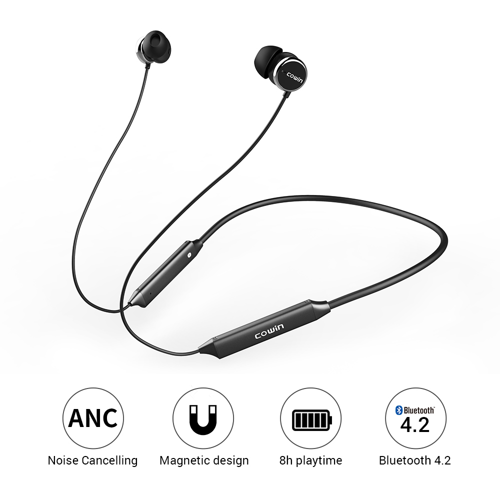 Cowin HE5A Active Noise Cancelling bluetooth earphone sport wireless earbuds music bluetooth headset for phone Handsfree