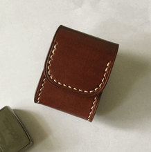 High Quality Cowhide Business Cigarette Lighter Box New Fashion Genuine Leather Waist Case Best Gift For Men LFB396
