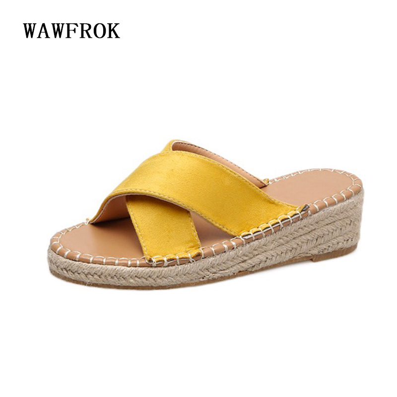 Women Slippers 2018 New Summer Casual Women Sandals PU Leather Wedges Flats Fashion Women Shoes Breathable Outdoor Slides anmairon shallow leisure striped sandals women flats shoes new big size34 43 pu free shipping fashion hot sale platform sandals
