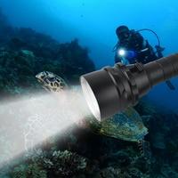 BORUIT 9000LM LED Scuba Diving Flashlight Waterproof 18650 Torch Underwater Portable Lanterns fishing light For Spearfishing