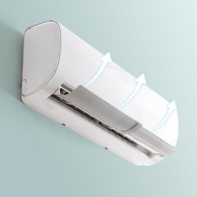 Plastic Restaurant Air Damper Durable Extensible Windguard Hotel Air Conditioning Windshield Gas Deflectors