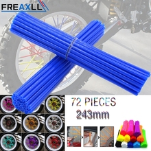 72Pcs/Pack Off-road Bike Wheel spoke skins Colorful Motocross Rims Skins Covers For KTM Supermoto Motorcross 350 450 500