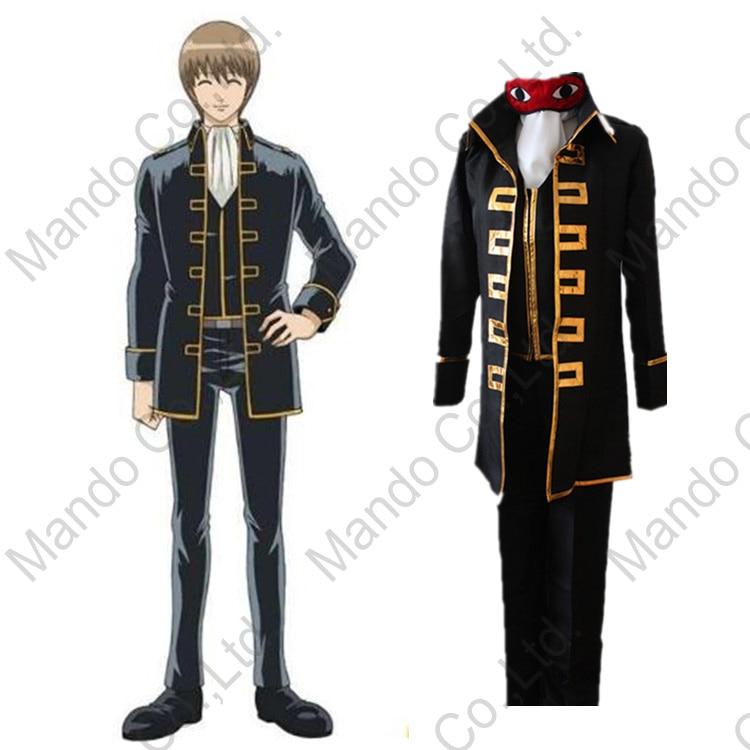 Anime GINTAMA Okita Sougo cosplay costume Mens uniform suit halloween cosplay party outfit