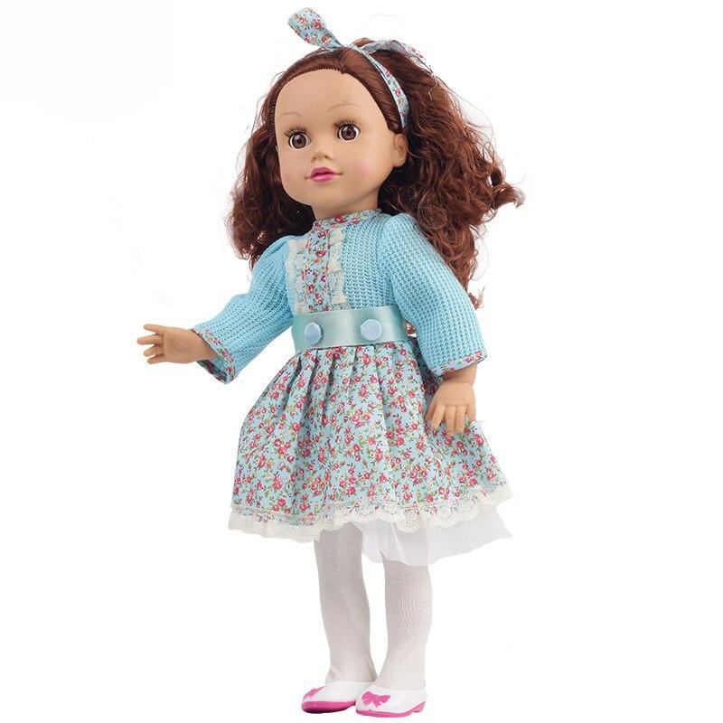 KIDDING 18Inch/ 45cm Girl bebe Reborn Doll Can Close Eyes Sleeping Baby Doll Toy for Children Birthday Christmas Gift