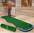 Juego de práctica de entrenamiento de golf de interior portátil manta de práctica de Golf de césped Artificial Mini Golf verde para principiantes de la familia B81701