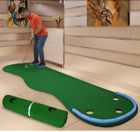 Portable Indoor golf Put trainer Golf practice blanket Artificial grass Mini Golf green Beginners Family Practicing set B81701