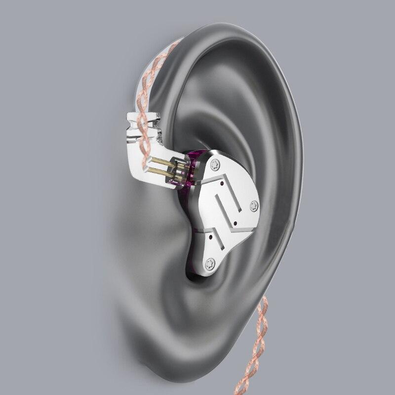 New KZ ZSN 1BA+1DD Hybrid In Ear Earphone HIFI DJ Monito Running Sport Earphone Headset Earbud KZ ZS10 ZST ZS6 KZ AS10 ZSN PRO