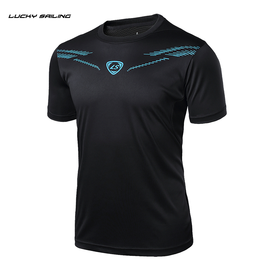 Running T-Shirt Soccer-Jersey Badminton Basketball Dry-Fit Printed Black Quick-Dry Breathable