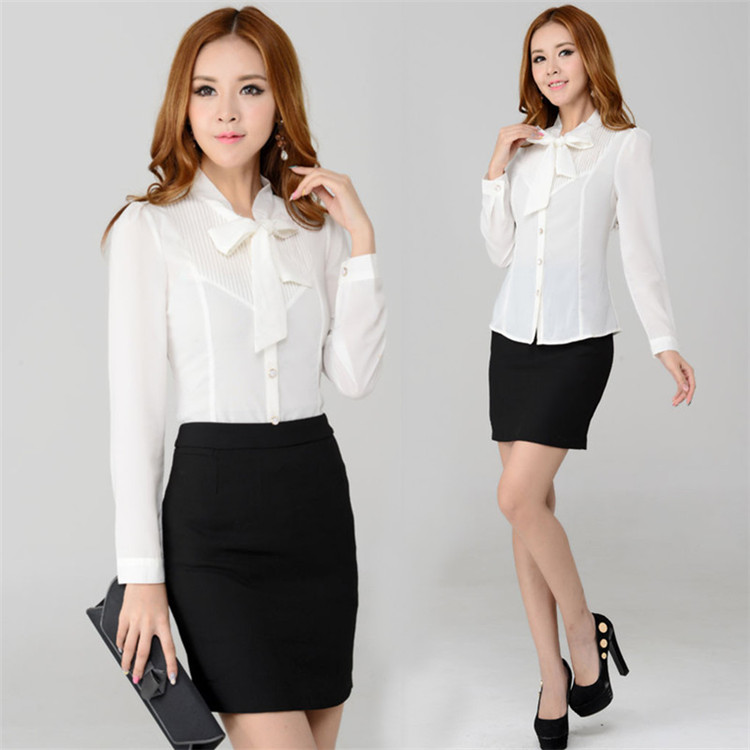 Popular Women Working Professional Blouses-Buy Cheap Women Working ...