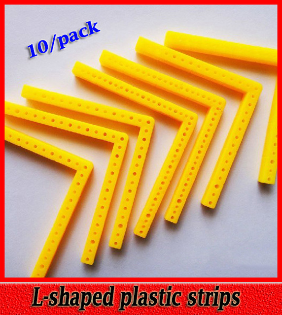 10pack Free Shipping L Shaped Plastic Strips Modeling Plastic Toy