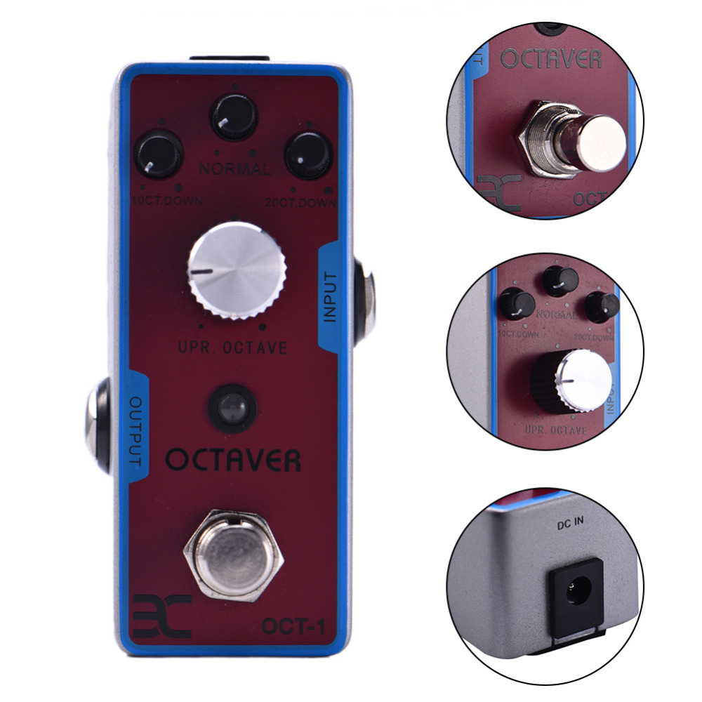 2017 Electric Guitar Effect Pedal Guitar Pedal Bass Effect Pedal Octave monolithic OCTAVER Support Wholesale nux octave loop guitar pedal looper 5 minutes recording time electric bass built in octave effect accessories
