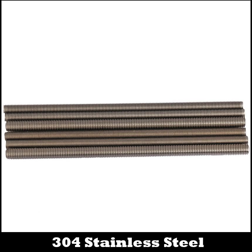 M12 M12*1*250 M12x1x250 M12*1.25*250 M12x1.25x250 304 Stainless Steel 304ss Bolt Full Thin Fine Thread Bar Studding Rod