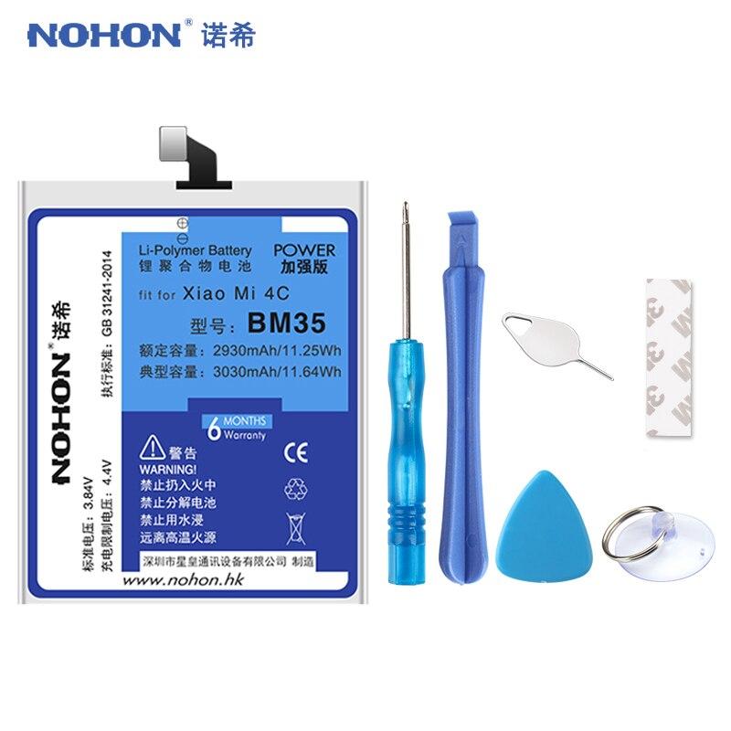 Original NOHON Batterie BM35 Für Xiao mi mi 4C mi 4C 3030 mAh Ersatz Handy Lithium-Polymer Bateria Freies werkzeuge