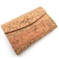 Natural Cork Women Card Holde Trifold Clutch Vegan Wallet Cork Leather Handmade Original Wallet From PORTUGAL