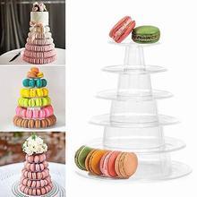 Soporte para exhibición de cupcakes de 4/6/10 niveles Macaron Torre Macaroon soporte para torta decoración de boda de fiesta de cumpleaños herramientas