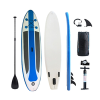 Premium Inflatable Stand Up Paddle Board (6 Inches Thick) with SUP Accessories & Carry Bag   Wide Stance, Bottom Fin for Paddlin