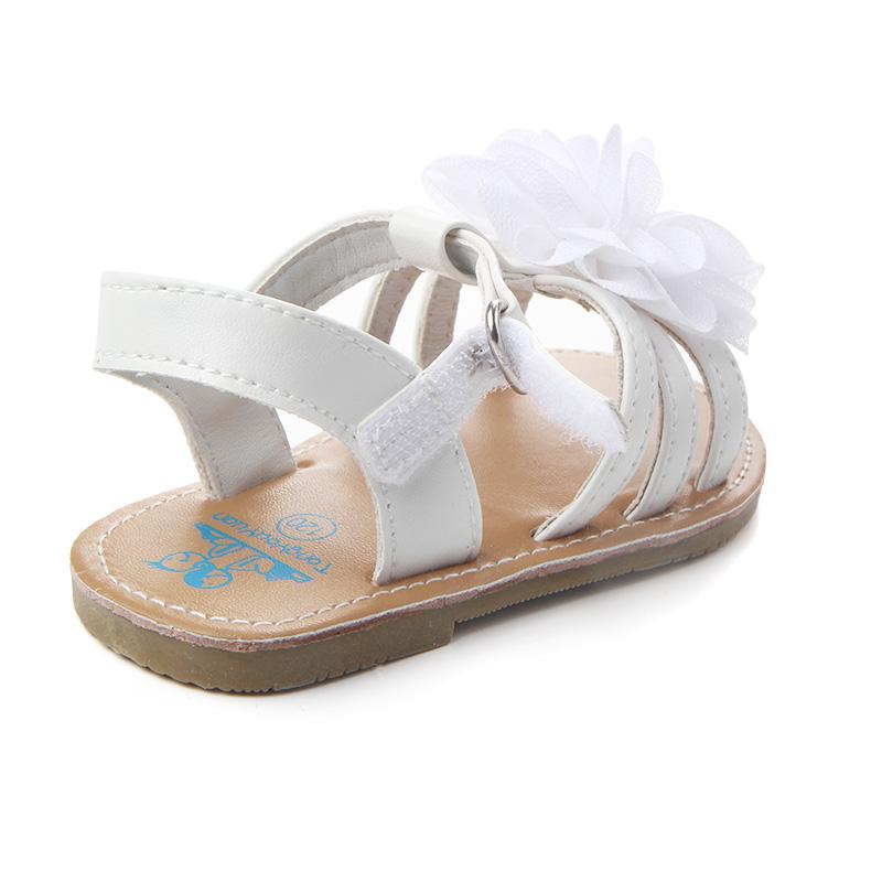 82bcb69e6f5c Flower Fashion Design Baby Shoes PU Leather Vamp Flat And Hard Sole ...