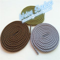 Fashion 5mm rope lace custom round shoe lace wholesale shoelace ribbon