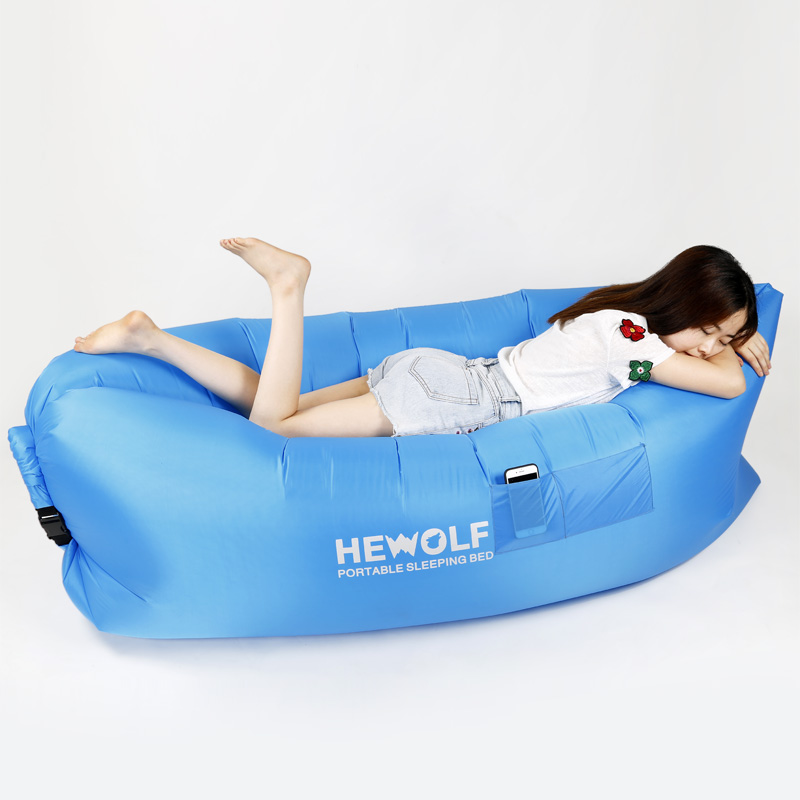 Hewolf Air Bag Outdoor Sofa Mattress Inflatable Cushion Siesta Bed Sandy Beach Grass Camping Swimming Pool Carry  Free Ship EC14 vilead new american stripe water hammock pvc sleep tents pool row pattern lounge inflatable air floating bed for beach swimming